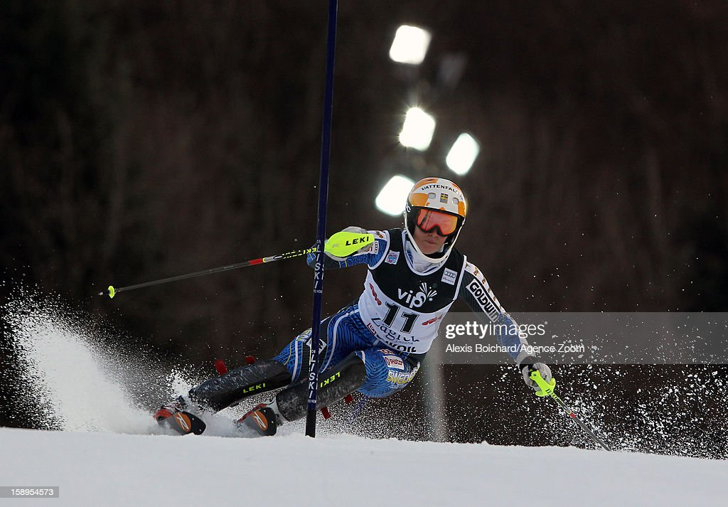 Maria Pietilae-Holmner of Sweden competes during the Audi FIS Alpine Ski World Cup Women's Slalom on January 4, 2013 in Zagreb, Croatia.