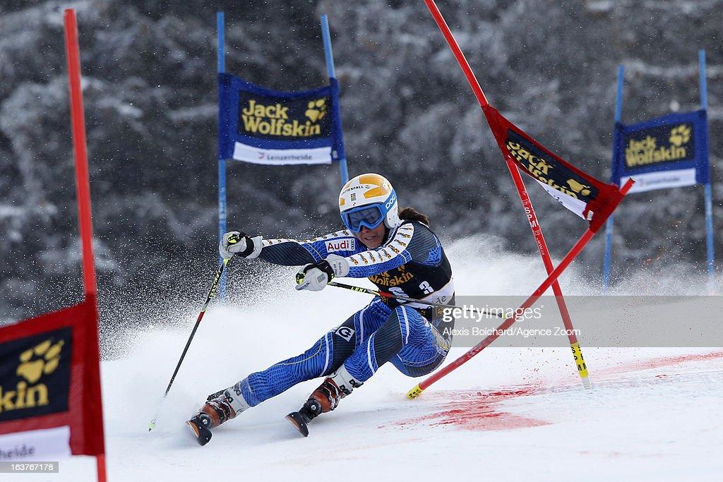 Maria Pietilae-Holmner of Sweden competes during the Audi FIS Alpine Ski World Cup Nation's Team event on March 15, 2013 in Lenzerheide, Switzerland.