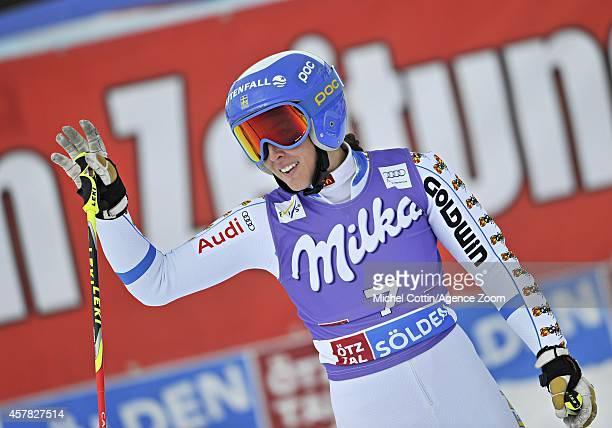 Maria PietilaeHolmner of Sweden competes during the Audi FIS Alpine Ski World Cup Women's Giant Slalom on October 25 2014 in Soelden Austria
