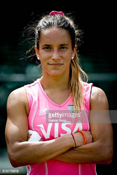 Maria Pilar Campoy during a portrait session as part of Argentina Las Leonas Media Day at Cenard on March 15 2016 in Buenos Aires Argentina