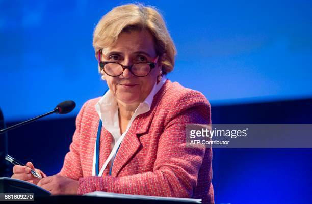 Maria Ramos CEO of Barclays Africa Group Limited speaks during the 32nd Annual Group of 30 International Banking Seminar in Washington DC on ctober...
