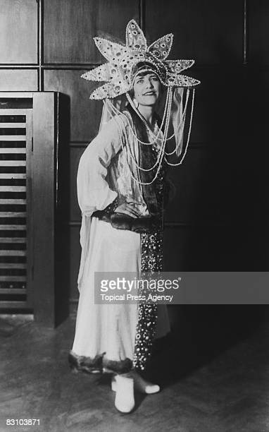 Maria Rasputin daughter of Russian mystic Grigori Rasputin the 'Mad Monk' appears on the Dresden stage circa 1935 She was married to Boris Soloviev...