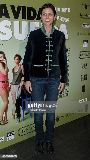 Maria Reyes attends 'La Vida Resuelta' premiere photocall at Santa Isabel theatre on April 24 2014 in Madrid Spain