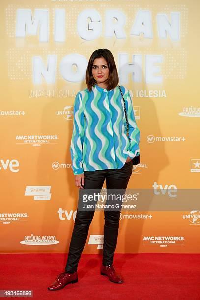 Maria Reyes attends 'Mi Gran Noche' premiere at Kinepolis Cinema on October 20 2015 in Madrid Spain