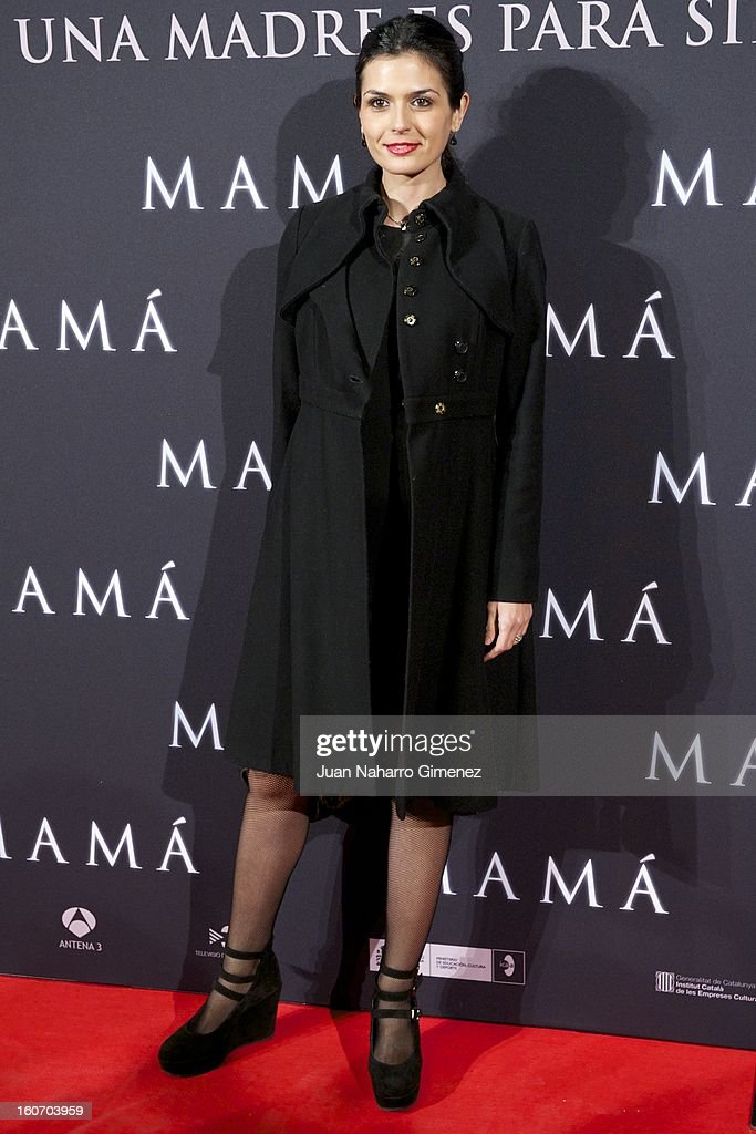 Maria Reyes attends the 'Mama' premiere at the Callao cinema on February 4, 2013 in Madrid, Spain.