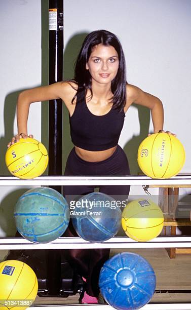 Maria Reyes Miss Spain 1995 at a gym 21st February 1995 Madrid Spain