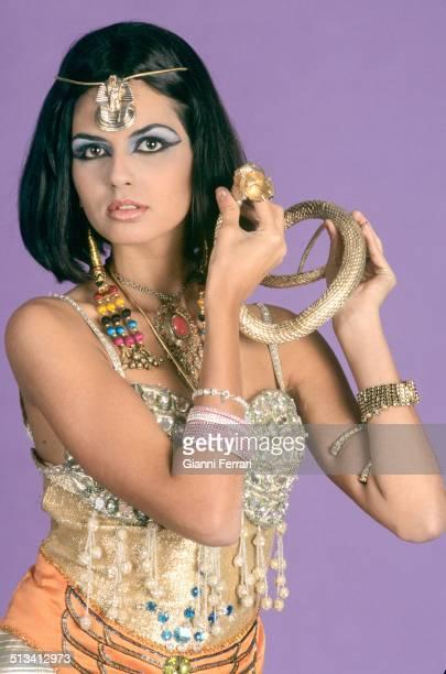 "Maria Reyes Miss Spain 1995 on a photo shoot like ""Cleopatra"" 23rd November 1995 Madrid Spain"