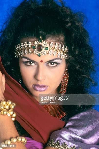 "Maria Reyes Miss Spain 1995 on a photo shoot like ""Salome"" 23rd November 1995 Madrid Spain"