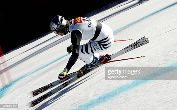 Maria Riesch of Germany competes during the FIS Skiing World Cup Women's SuperG on March 04 2007 in Tarvisio Italy