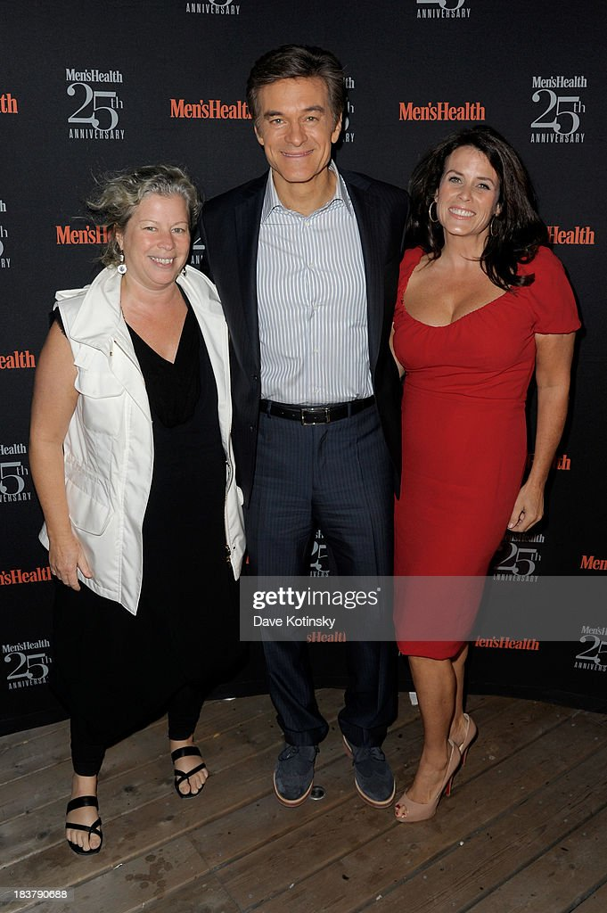 Maria Rodale, Mehmet Oz and Lisa Oz attend the Men's Health 25th anniversary celebration at Isola, Mondrian Soho Hotel on October 9, 2013 in New York City.