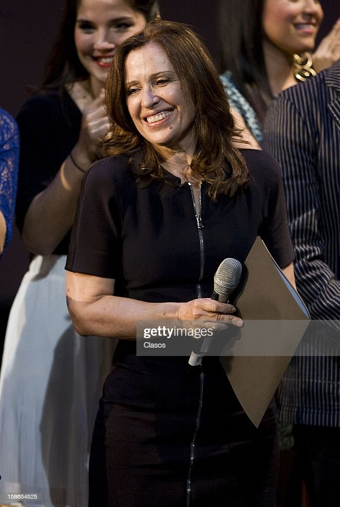 Maria Rojo looks on during the unveiling of the plaque by the 500 performances of the play Si Nos Dejan on December 20, 2012 in Mexico City, Mexico.