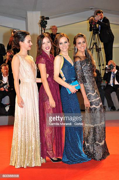 Maria Roveran Marta Gastini Laura Adriani and Caterina Le Caselle attends a premiere for 'These Days' during the 73rd Venice Film Festival at Palazzo...