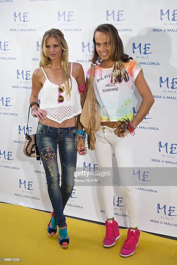 Maria San Juan and Aless Gibaja attend the Hotel ME reopening party on May 8, 2014 in Madrid, Spain.