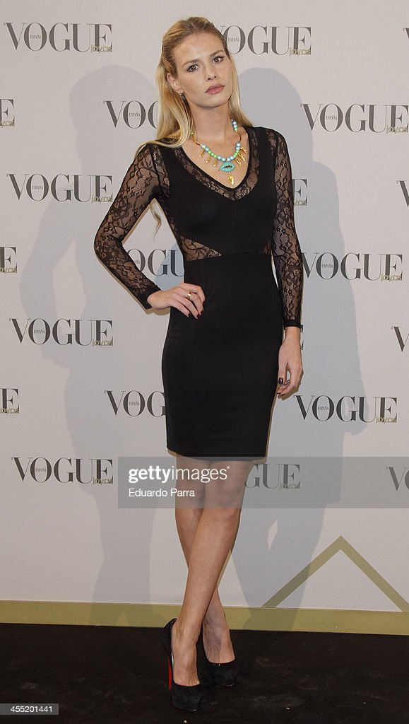 Maria Sanjuan attends Vogue joyas 2013 awards photocall at Madrid stock exchange on December 11, 2013 in Madrid, Spain.