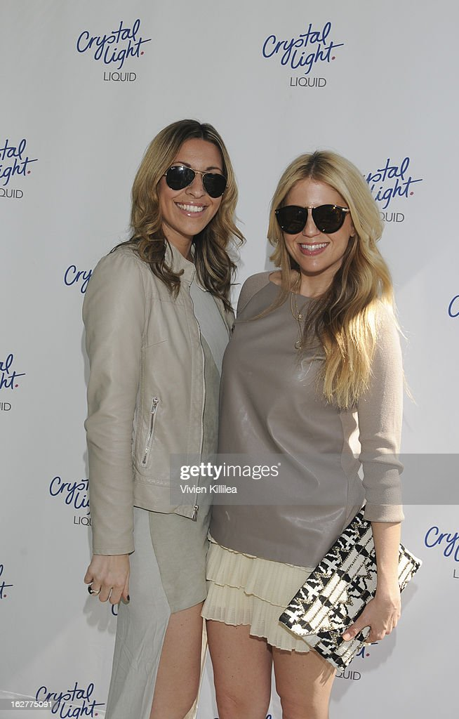 Maria Sass and stylist Lindsay Albanese attend Giuliana Rancic And Crystal Light Liquid Toast Red Carpet Style at SLS Hotel on February 26, 2013 in Los Angeles, California.