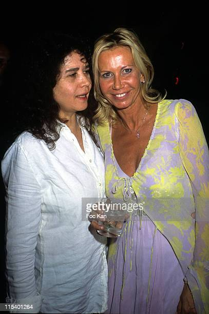 Maria Schneider and Fiona Gelin during Fiona Gelin's Birthday Party June 22 2005 at Castel Club in Paris France