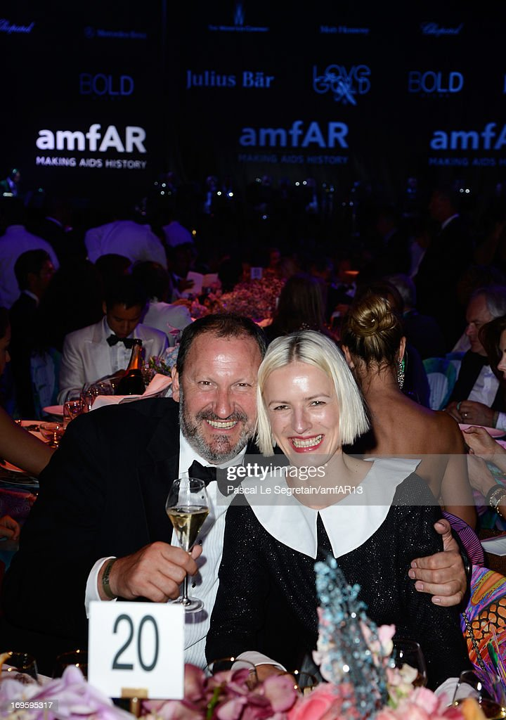 Maria Schonhofer and guest attend the Gala Dinner for amfAR's 20th Annual Cinema Against AIDS at Hotel du Cap-Eden-Roc on May 23, 2013 in Cap d'Antibes, France.