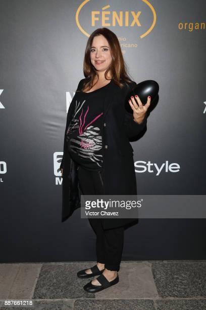 Maria Seco attends the Premio Iberoamericano De Cine Fenix 2017 press room at Teatro de La Ciudad on December 6 2017 in Mexico City Mexico