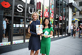 Maria Sharapova and EditorinChief of SELF Joyce Chang pose at a QA about being a SELF Made woman hosted by SELF Magazine September cover star Maria...