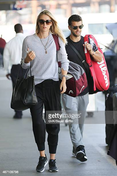 Maria Sharapova and Grigor Dimitrov seen at LAX on March 20 2015 in Los Angeles California