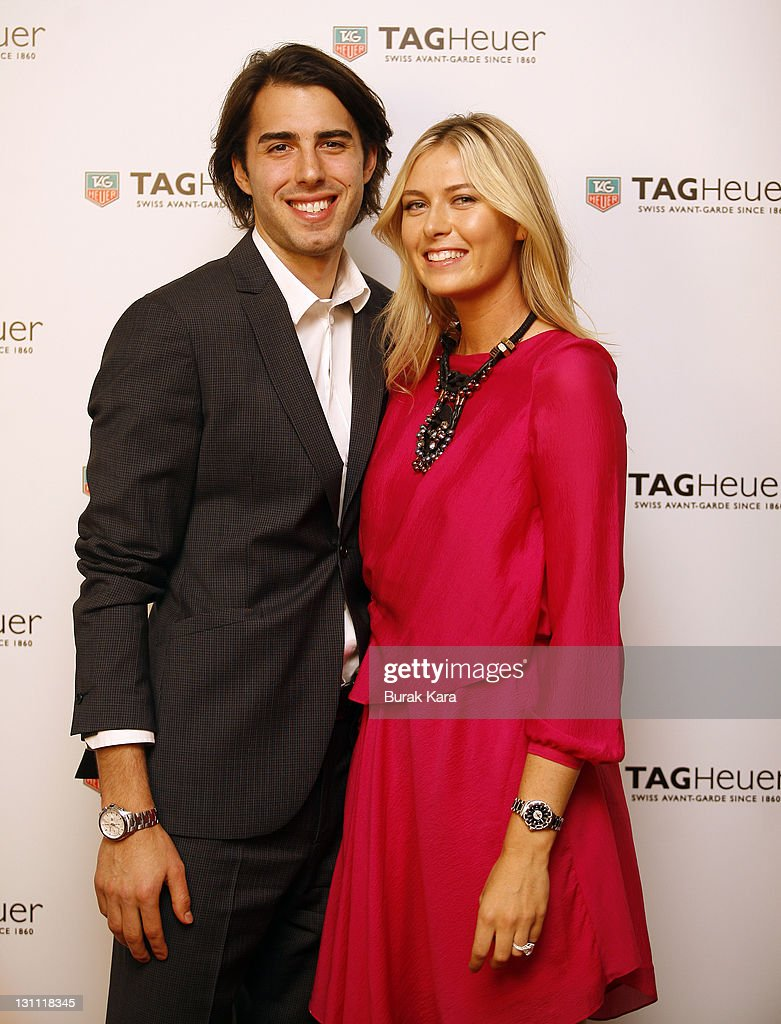 <a gi-track='captionPersonalityLinkClicked' href=/galleries/search?phrase=Maria+Sharapova&family=editorial&specificpeople=157600 ng-click='$event.stopPropagation()'>Maria Sharapova</a> and her fiance <a gi-track='captionPersonalityLinkClicked' href=/galleries/search?phrase=Sasha+Vujacic&family=editorial&specificpeople=210542 ng-click='$event.stopPropagation()'>Sasha Vujacic</a> attend the TAG Heuer Formula 1 Lady Steel and Ceramic Pavee watch launch on November 1, 2011 in Istanbul, Turkey.