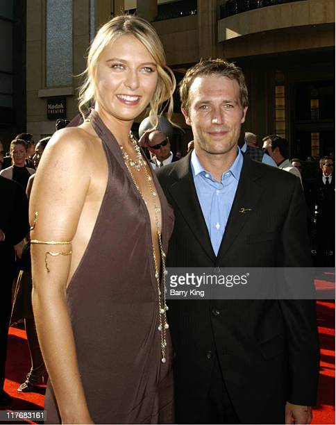 Maria Sharapova and Michael Vartan during 2005 ESPY Awards Arrivals at Kodak Theatre in Hollywood California United States
