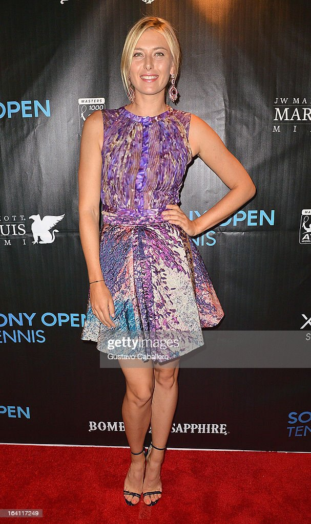 <a gi-track='captionPersonalityLinkClicked' href=/galleries/search?phrase=Maria+Sharapova&family=editorial&specificpeople=157600 ng-click='$event.stopPropagation()'>Maria Sharapova</a> arrives at Sony Open Player Party 2013 at JW Marriott Marquis on March 19, 2013 in Miami, Florida.