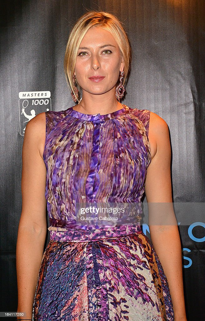Maria Sharapova arrives at Sony Open Player Party 2013 at JW Marriott Marquis on March 19, 2013 in Miami, Florida.