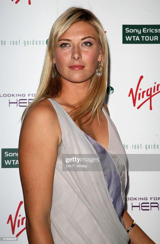 Maria Sharapova arrives at the Sony Ericsson WTA Tour preWimbledon Player Party at Kensington Roof Gardens on 19 June 2008 in London England
