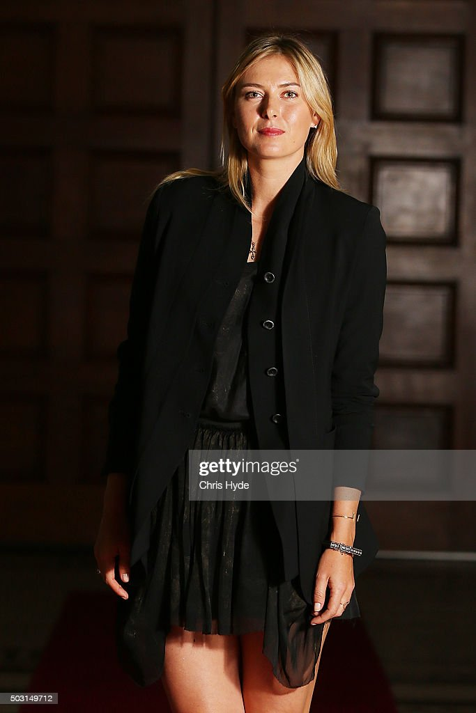 <a gi-track='captionPersonalityLinkClicked' href=/galleries/search?phrase=Maria+Sharapova&family=editorial&specificpeople=157600 ng-click='$event.stopPropagation()'>Maria Sharapova</a> arrives for the Summer Nights player party at Brisbane City Hall ahead of the 2016 Brisbane International on January 2, 2016 in Brisbane, Australia.