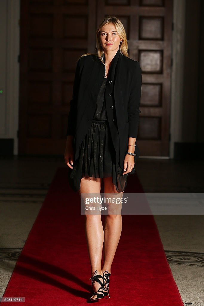 Maria Sharapova arrives for the Summer Nights player party at Brisbane City Hall ahead of the 2016 Brisbane International on January 2, 2016 in Brisbane, Australia.