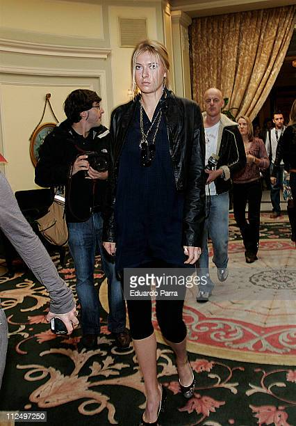 Maria Sharapova at the Palace Hotel in Madrid Spain during a photocall prior to the Sony Ericsson Madrid Masters on November 6 2006