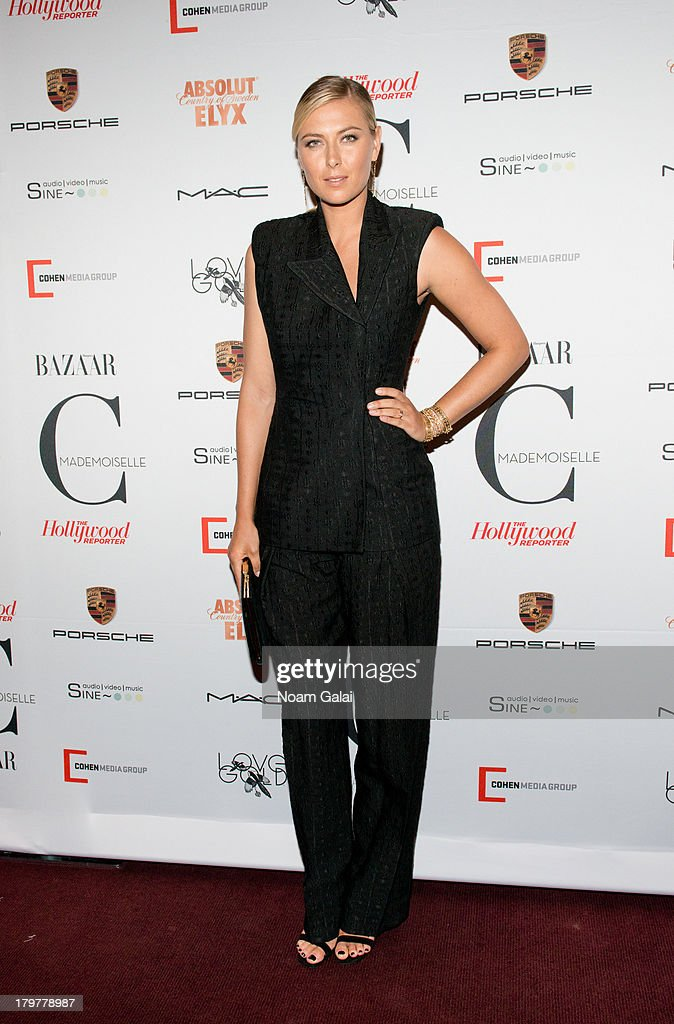 <a gi-track='captionPersonalityLinkClicked' href=/galleries/search?phrase=Maria+Sharapova&family=editorial&specificpeople=157600 ng-click='$event.stopPropagation()'>Maria Sharapova</a> attends 'Mademoiselle C' New York Premiere at Florence Gould Hall on September 6, 2013 in New York City.