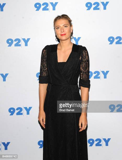 Maria Sharapova attends Maria Sharapova in conversation with Katie Couric at 92nd Street Y on September 13 2017 in New York City