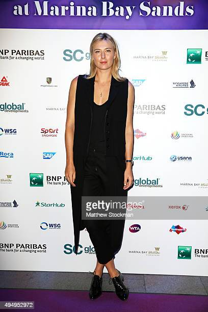 Maria Sharapova attends Singapore Tennis Evening at Marina Bay Sands on October 30 2015 in Singapore
