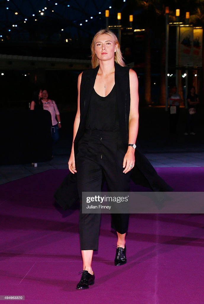 Maria Sharapova attends Singapore Tennis Evening at Marina Bay Sands on October 30, 2015 in Singapore.