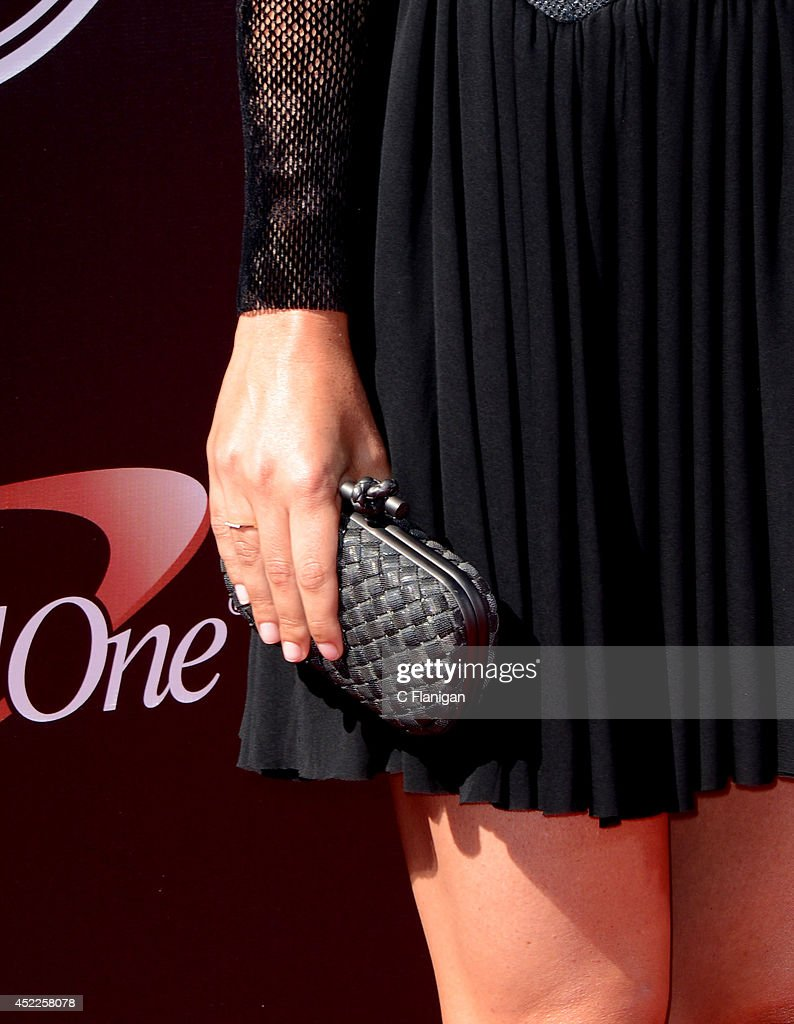 Maria Sharapova (Purse Detail) attends the 2014 ESPY Awards at Nokia Theatre L.A. Live on July 16, 2014 in Los Angeles, California.