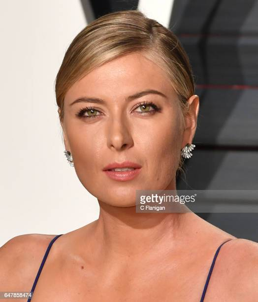 Maria Sharapova attends the 2017 Vanity Fair Oscar Party hosted by Graydon Carter at the Wallis Annenberg Center for the Performing Arts on February...