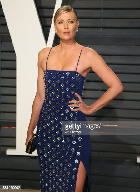 Maria Sharapova attends the 2017 Vanity Fair Oscar Party hosted by Graydon Carter at Wallis Annenberg Center for the Performing Arts on February 26...