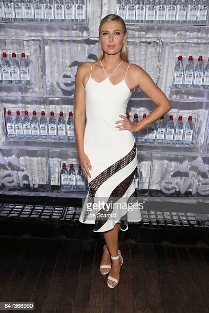 Maria Sharapova attends the evian Brand Ambassador 750 ml Sports Bottle Launch at HYDE Sunset Kitchen Cocktails on March 2 2017 in West Hollywood...