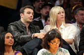 Maria Sharapova attends the Los Angeles Lakers vs New Orleans Hornets game at the Staples Center on January 6 2009 in Los Angeles California