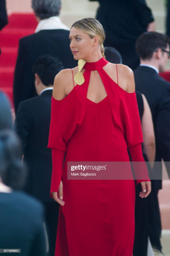 Maria Sharapova attends the 'Manus x Machina: Fashion In An Age Of Technology' Costume Institute Gala at Metropolitan Museum of Art on May 2, 2016 in New York City.