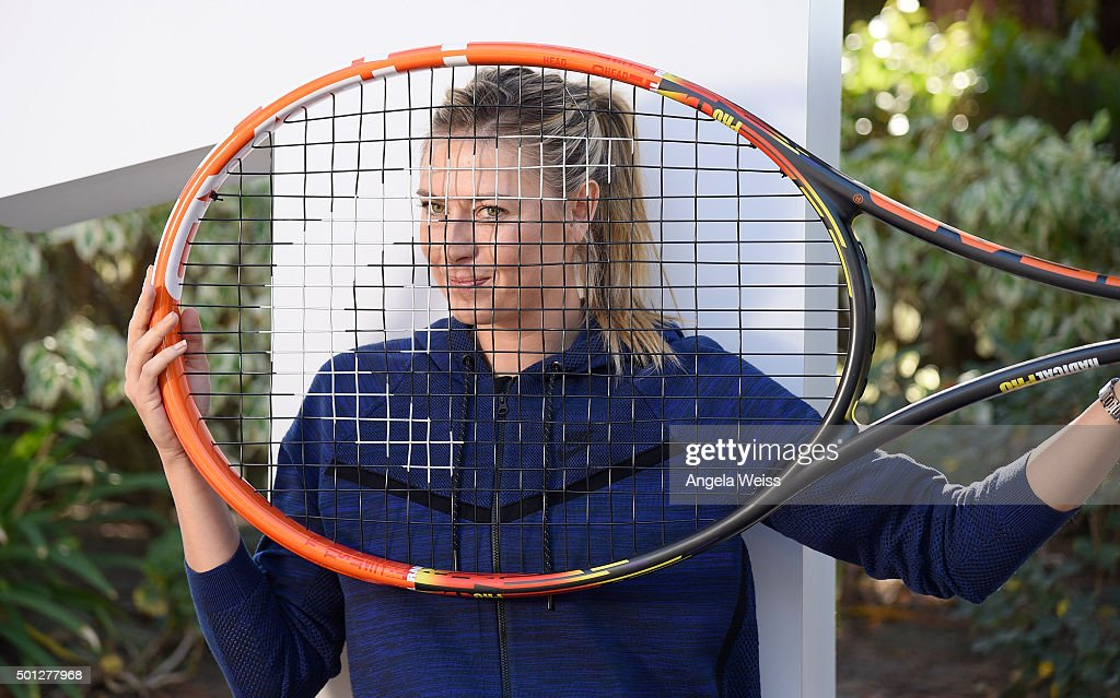 Maria Sharapova attends the Maria Sharapova and Friends tennis event presented by Porsche on December 13, 2015 in Los Angeles, California.