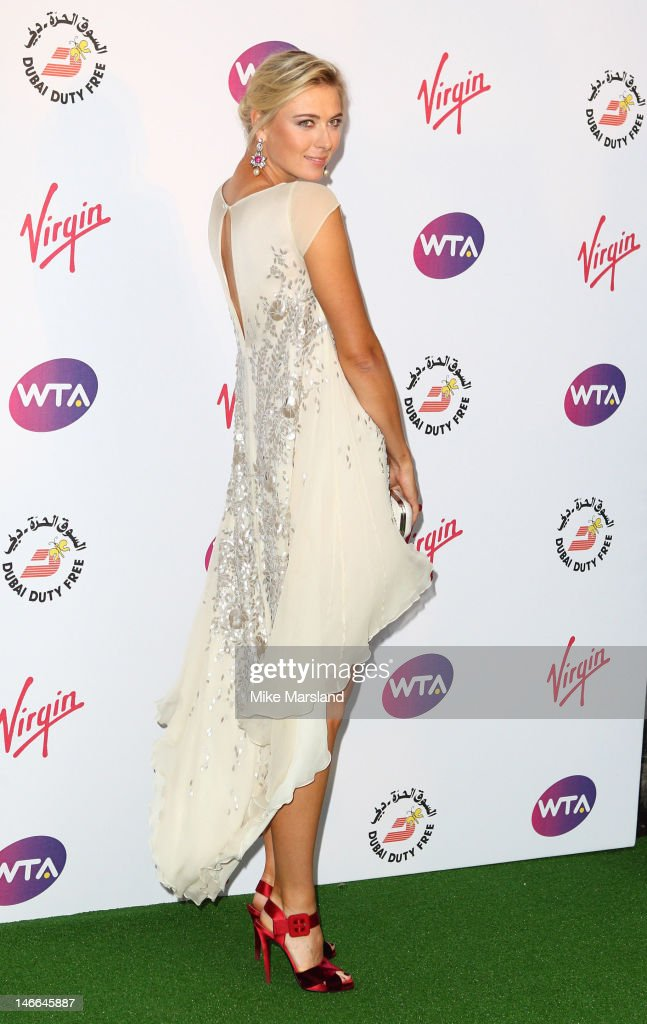 Maria Sharapova attends the Pre-Wimbledon Party at Kensington Roof Gardens on June 21, 2012 in London, England.