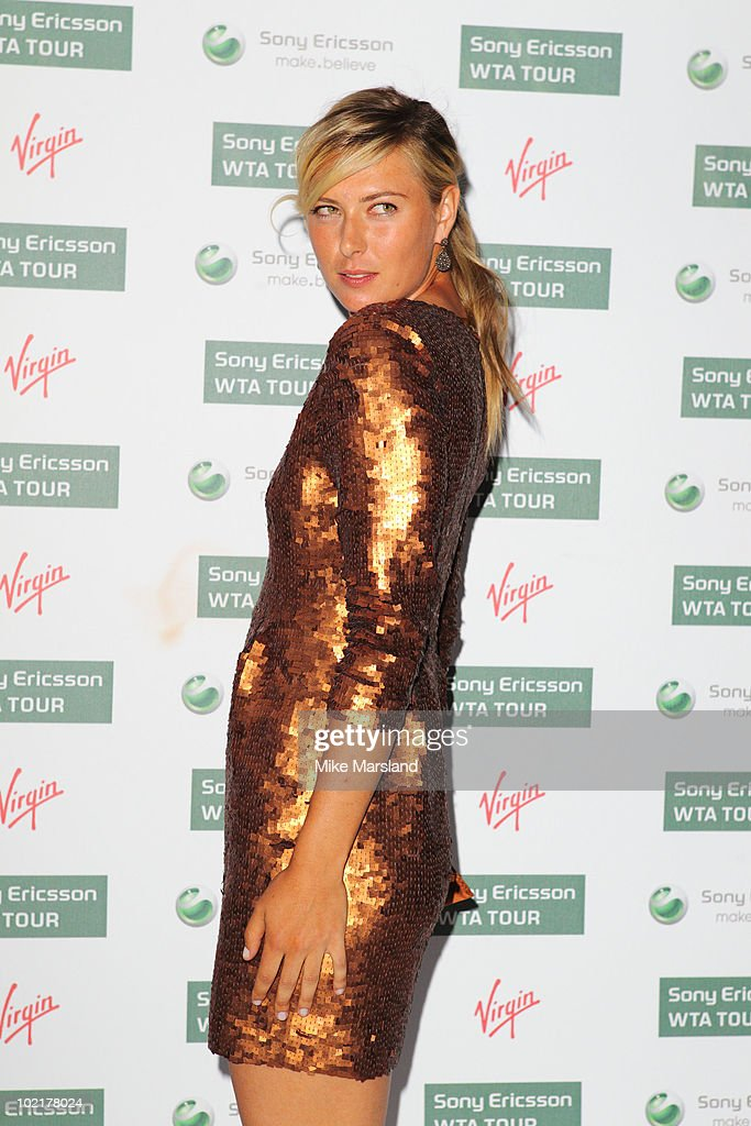 Maria Sharapova attends the PreWimbledon Party at The Roof Gardens on June 17 2010 in London England