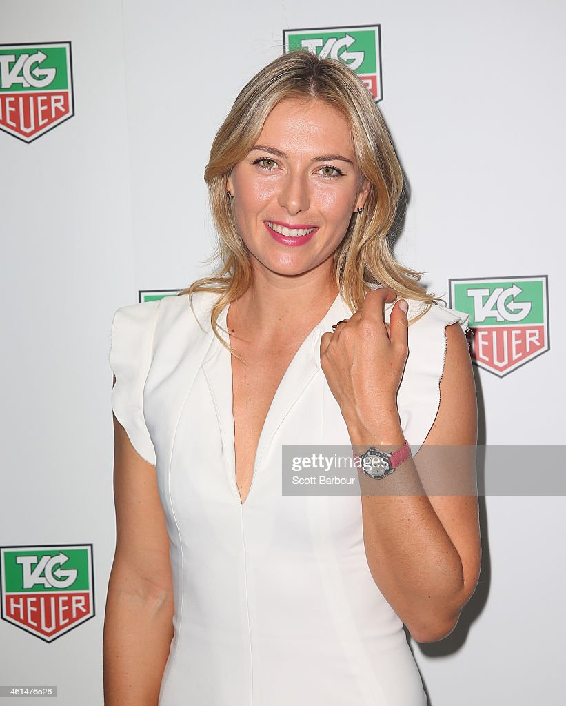<a gi-track='captionPersonalityLinkClicked' href=/galleries/search?phrase=Maria+Sharapova&family=editorial&specificpeople=157600 ng-click='$event.stopPropagation()'>Maria Sharapova</a> attends the TAG Heuer Party at Ms Collins on January 13, 2015 in Melbourne, Australia.