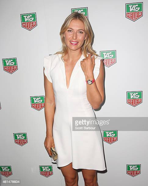 Maria Sharapova attends the TAG Heuer Party at Ms Collins on January 13 2015 in Melbourne Australia