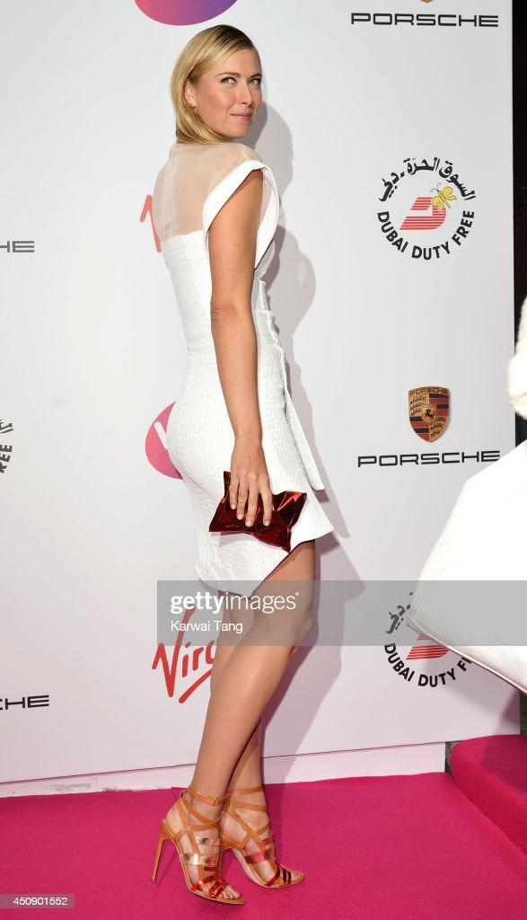 Maria Sharapova attends the WTA PreWimbledon party at Kensington Roof Gardens on June 19 2014 in London England