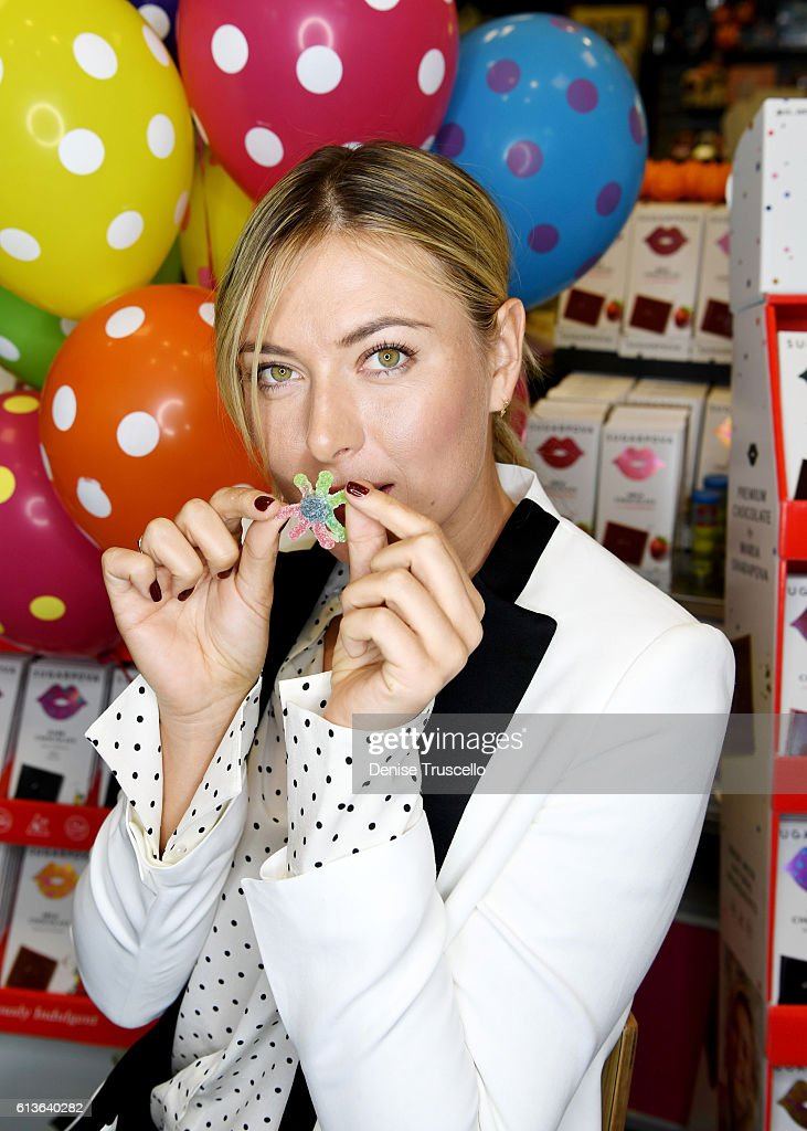 Maria Sharapova celebrates Sugarpova In Las Vegas at the Sweet Factory on October 9 2016 in Henderson Nevada