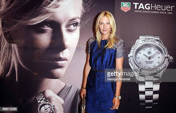 Maria Sharapova cohosts The TAG Heuer Cocktail Reception at the Royal De Versailles Jewellers on August 14 2009 in Toronto Canada